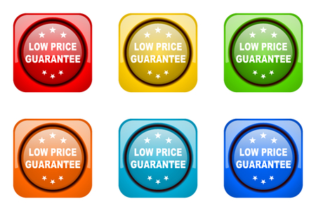 low price: low price guarantee colorful web icons Stock Photo