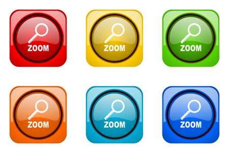 web icons: zoom colorful web icons