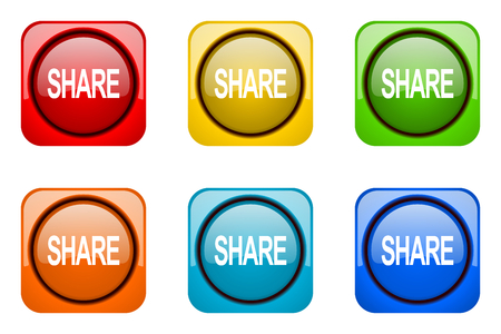 web icons: share colorful web icons Stock Photo