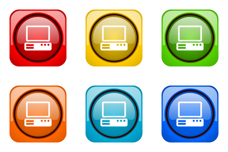 web icons: computer colorful web icons