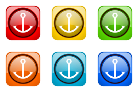anchor colorful web icons