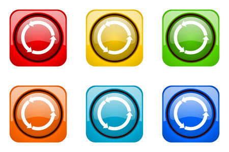 refresh: refresh colorful web icons Stock Photo