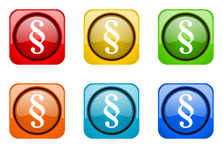 web icons: paragraph colorful web icons