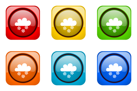 snowing: snowing colorful web icons