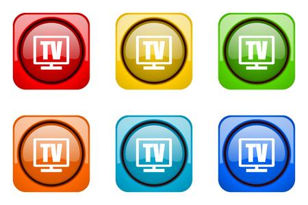 web icons: tv colorful web icons