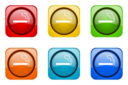 web icons: cigarette colorful web icons