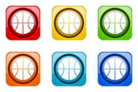 web icons: ball colorful web icons