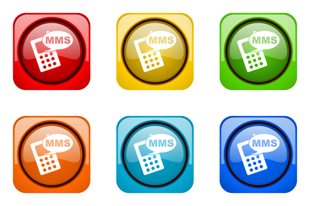mms: mms colorful web icons