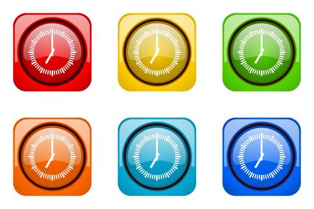 cronometro: tiempo de iconos de colores web