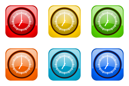 web icons: time colorful web icons