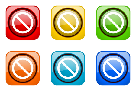access denied: access denied colorful web icons