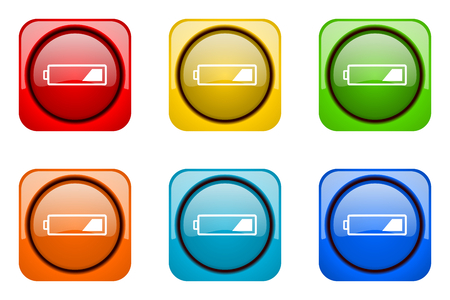 accuse: battery colorful web icons