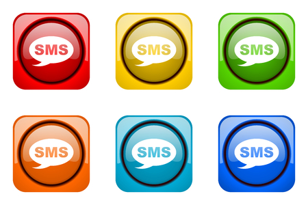 sms: sms colorful web icons