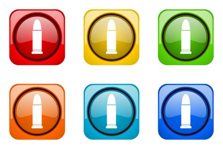 ammunition colorful web icons