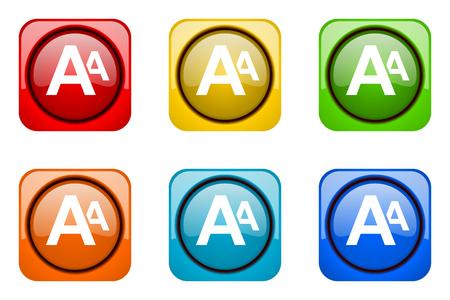 web icons: alphabet colorful web icons Stock Photo