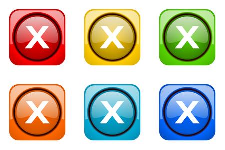 web icons: cancel colorful web icons