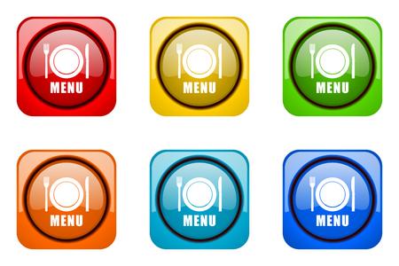 web icons: menu colorful web icons