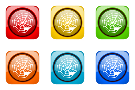 web: spider web colorful web icons