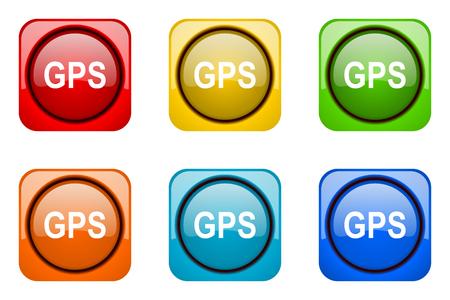web icons: gps colorful web icons Stock Photo