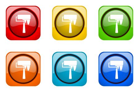 web icons: brush colorful web icons