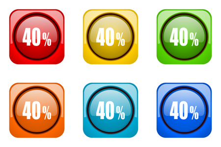 40: 40 percent colorful web icons