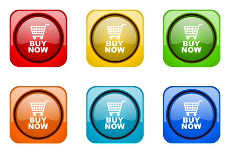 buy now: buy now colorful web icons