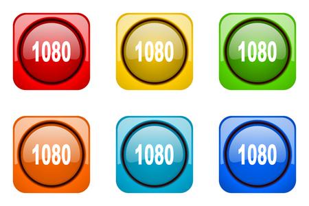 web icons: 1080 colorful web icons Stock Photo