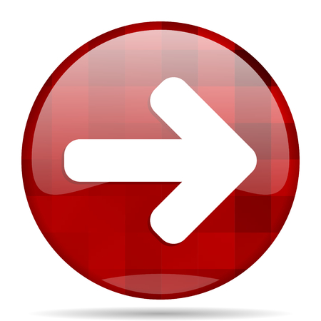 navigation panel: right arrow red round glossy modern design web icon