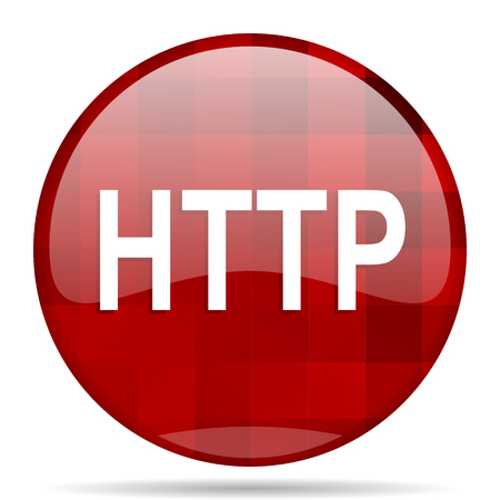 http: http red round glossy modern design web icon