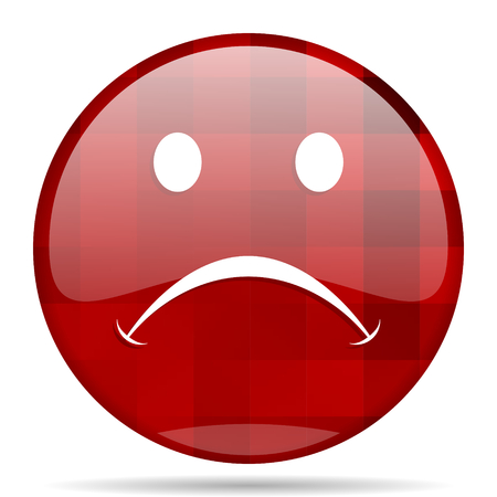 cry red round glossy modern design web icon Stock Photo