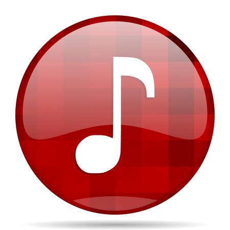 melodic: music red round glossy modern design web icon Stock Photo