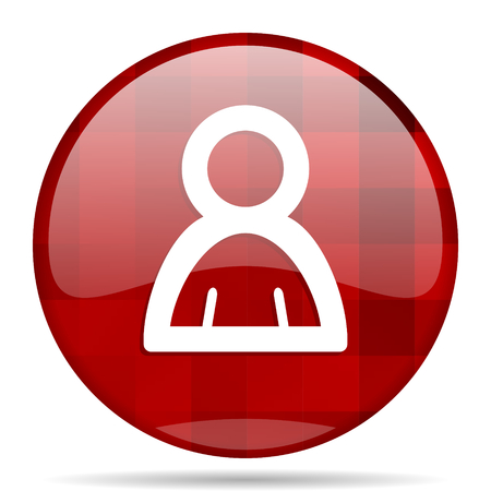 person red round glossy modern design web icon Stock Photo