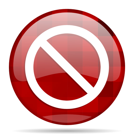 access denied: access denied red round glossy modern design web icon