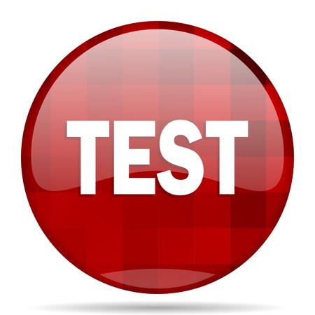test probe: test red round glossy modern design web icon Stock Photo