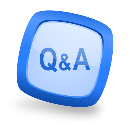 answers: question answer blue glossy web design icon