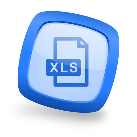 xls: xls file blue glossy web design icon