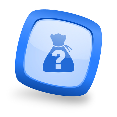 riddle blue glossy web design icon