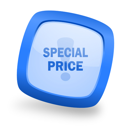 special price: special price blue glossy web design icon