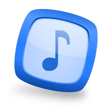 mp3 player: music blue glossy web design icon