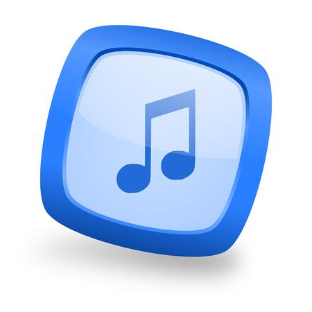 melodic: music blue glossy web design icon