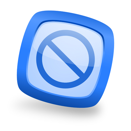 denied: access denied blue glossy web design icon