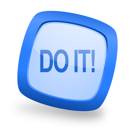 just do it: do it blue glossy web design icon Stock Photo