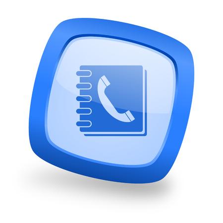 phonebook: phonebook blue glossy web design icon