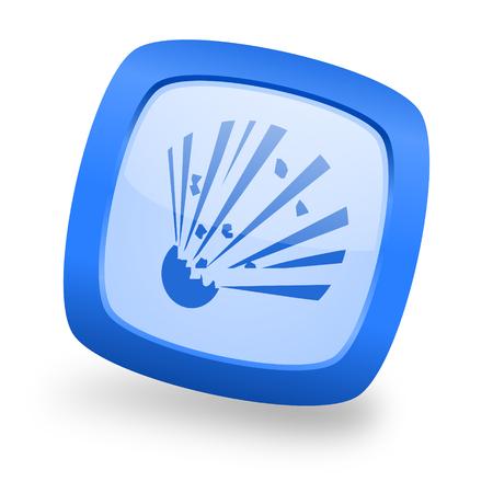dynamite: bomb blue glossy web design icon