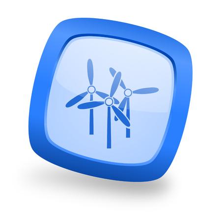 windmill blue glossy web design icon
