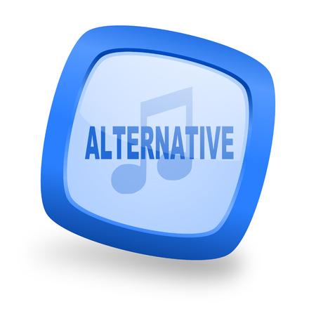 live stream radio: alternative music blue glossy web design icon Stock Photo