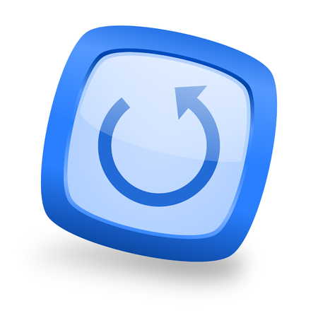 rotate: rotate blue glossy web design icon