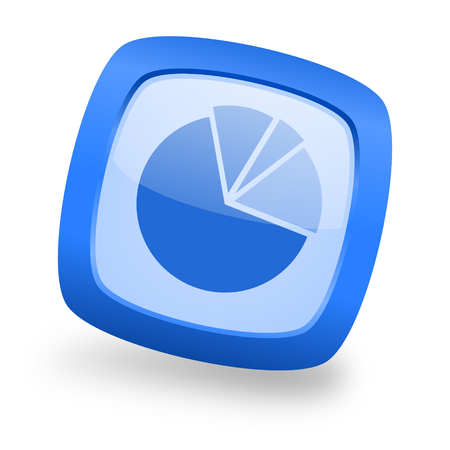 industry trends: diagram blue glossy web design icon