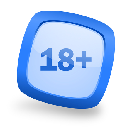 adults: adults blue glossy web design icon