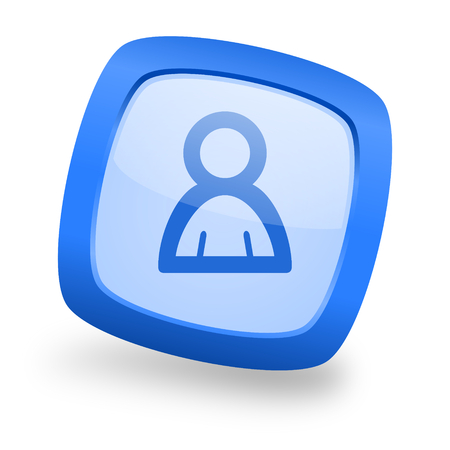 person blue glossy web design icon